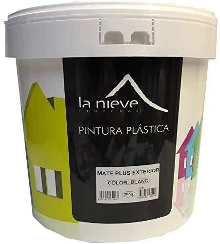 Pintura BLANCO MATE PLUS EXTERIOR pintura plástica 5kg LA NIEVE