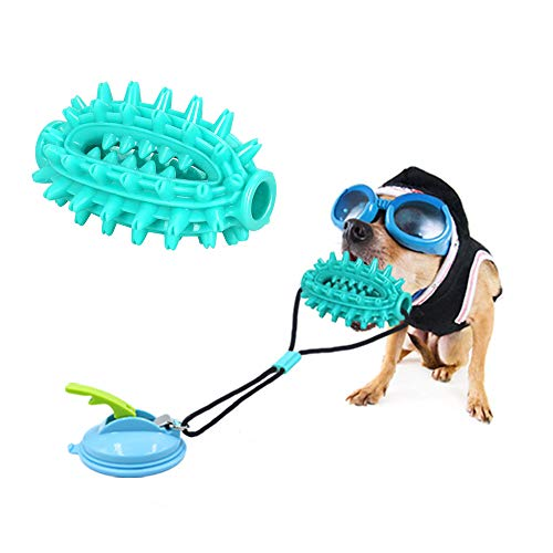 Dog Suction Cup Chew Toy Pet Molar Bite Toy with Elastic Rope and Upgraded Suction Cup Dog Training Treats Teething Rope Toys for Boredom Dog Puzzle Treat Food Dispensing for Dogs Puppies