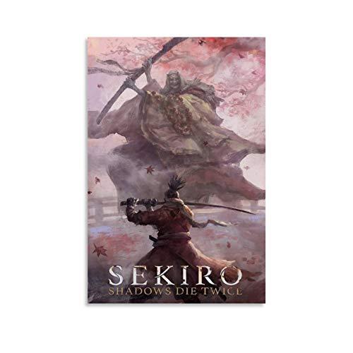 GIUU Sekiro Shadows Die Twice Art - Lienzo decorativo (30 x 45 cm)
