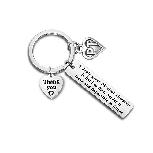 ENSIANTH Physical Therapist Gift PT Gift A Truly Great Physical Therapist is Hard to Find Keychin Therapist Appreciation Gift PT Graduation Gift (Physical Therapist)