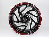 BIKE-label 710116-VA - Adesivo per cerchioni, colore: Rosso e Nero compatibile per Kawasaki Z900