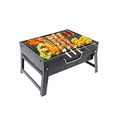Topinged Stainless Steel Barbecue Grill Folding Portable BBQ Outdoor Barbecue Accessories Picnics Barbecue Grill