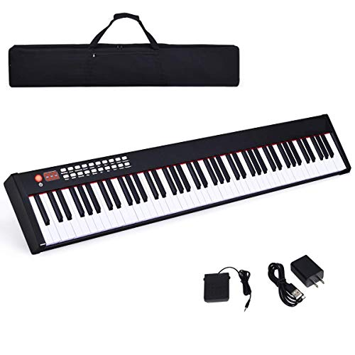 Why Choose Costzon BX-II 88-Key Portable Touch Sensitive Digital Piano, Upgraded Electric Keyboard with MIDI/USB Keyboard, Bluetooth, Dynamics Adjustment, Sustain Pedal, Power Supply, and Black Handbag (Black)