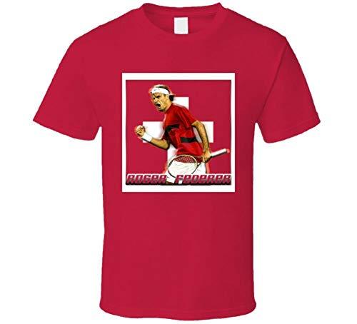 Roger Federer Swiss Tennis Player T Shirt