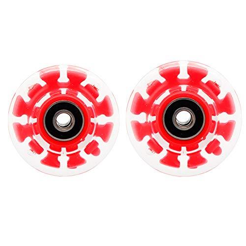 HealHeatersⓇ 2 Stücke/Set Skateboard Räder Outdoor Classic 58 Mm X 32 Mm PU Skateboard Roller Skates Ersatzradsatz,Rot