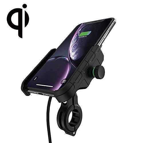 Rydonair Motorcycle Phone Mount with QC 3.0 USB Charger Socket Motorcycle Handlebar Mount Compatible...