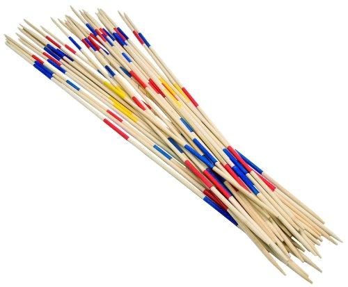 Idena 6066132 Gartenmikado mit 31 Stäben aus Bambusholz, für Kinder ab 8 Jahren, ideal zum Spielen im Freien