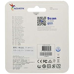 A-DATA TECHNOLOGY C008 16GB USB 2.0 Retractable Capless Flash Drive, Black/Red (AC008-16G-RKD)