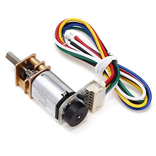 MING-MCZ Duradero Motor de codificador Coder N20 Speed N20 Motor DC6V 155RPM Fácil de Montar