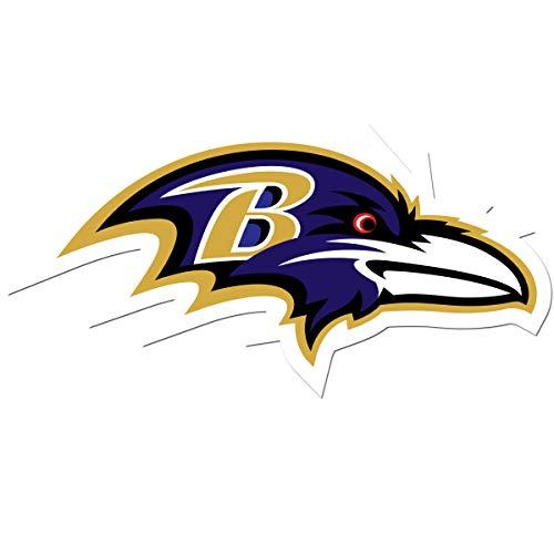 NFL Siskiyou Sports Fan Shop Baltimore Ravens Auto Decal 8 inch sheet Team Color