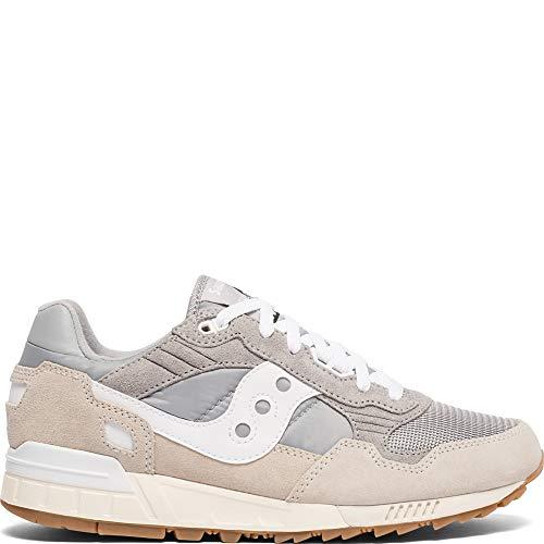 Saucony Men's Shadow 5000 Vintage Sneaker, Grey/White, 7.5 M US