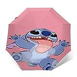 Parapluie Anti-UV de Voyage à Trois Volets à Ouverture/Fermeture Automatique compacte, Parapluie extérieur léger Pliant...