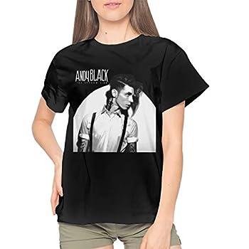 RichardJCrosby Fashion Cotton Women Leisure Andy Biersack Music Short Sleeves T Shirts L Black Gift