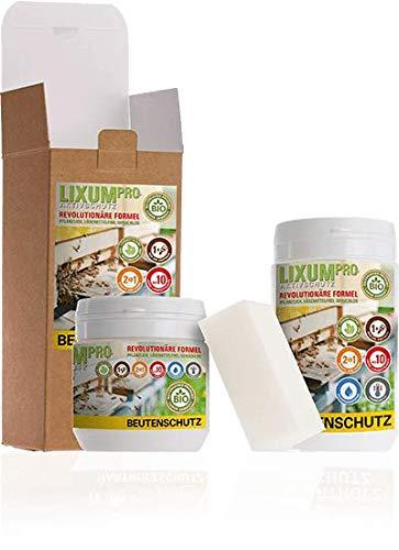 LIXUM BIENEN BEUTENSCHUTZ LASUR BIO (grün) 300 ml = 3 Beuten (9m²) natürlicher Holzschutz - von Imkern empfohlen! Bienenverträglichkeit laborgeprüft, biologisch, ökologisch, rein natürlich