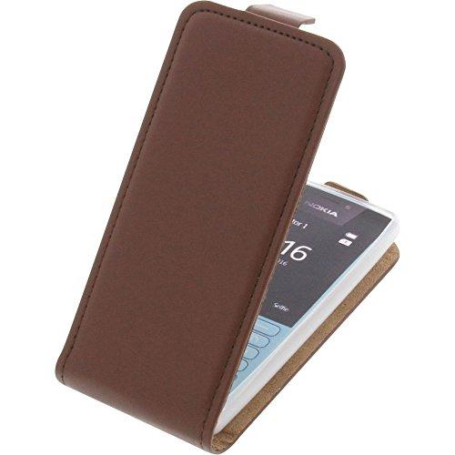 Tasche für Nokia 216 Smartphone Flipstyle Schutz Hülle braun