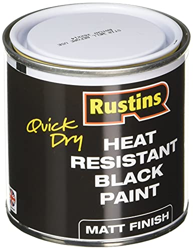 Rustins HRMB250 Quick Dry BlackPaint, Heat...