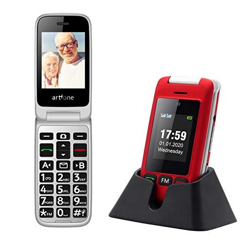 artfone C10 Big Button Mobile Phone for Elderly, Senior Flip Mobile Phone...
