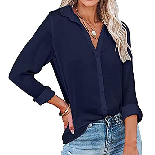 Blusen Shirts Damen Tunika Bluse Sommer Opus Blusen Tun Hemd Lange Oberteile Mit Schlitz Hemdbluse Für Crop Tops Spitze Blusen Langarm Tunika Blaue Bluse Schulterfreie Oberteile