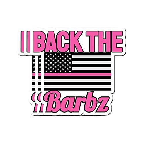 Stickers Pack 3, Vinyl Sticker for Adults Back Kids The Journaling Barbz Teens Laptop Bike for Bumper Car Water Bottle Luggage Guitar Skateboard (3pcs/Pack)