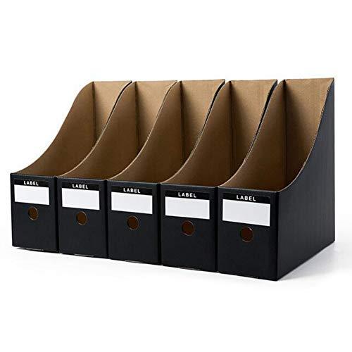 5 Stück Stehsammler Papier Stehordner Datei Organizer Pappe Zeitschriftenhalter Aktenhalter Zeitgemäßes Design Schreibtisch Speicherorganisator Archivsammler für Büro und Zuhause