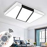 Led lámpara de techo 72w interior plafón moderna led de techo rectangular de dormitorio cocina sala de estar comedor balcón pasillo (regulable 3000-6500k)