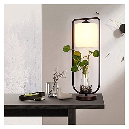 Lámpara Escritorio Planta vertical LED Tela decorativa hidropónica Hierro forjado Lámpara de mesa hidropónica Sala de estar Estudio Dormitorio Mesita de noche Lámpara de iluminación moderna simple de