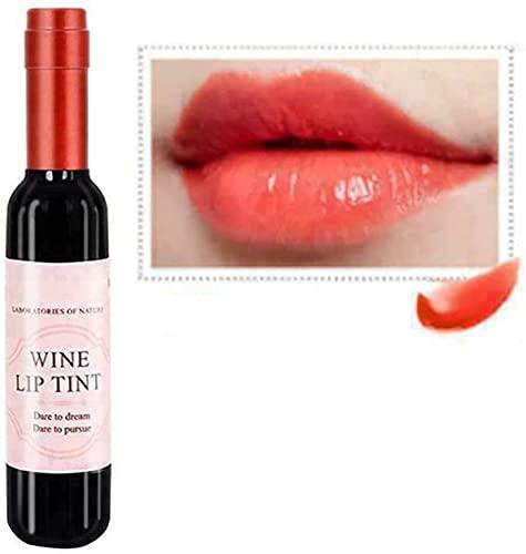 Juego de 6 colores/lápiz labial de vino mate de larga duración, resistente al agua, tinte de labios, brillo de labios, hidratante y antiadherente, regalo para novias, mamás (OR01)