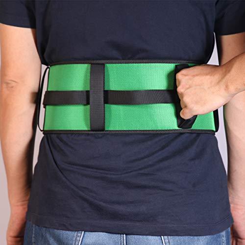 Kangwell Transfer-Gürtel | mit Griffen und Schnellverschluss-Schnalle, horizontal und vertikal, Gehhilfen, Übertragen und Stehhilfe für Zuhause, Krankenschwestern, Physiotherapie