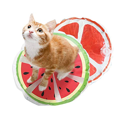 Ponacat Haustier Kühlmatte Katze Hund Kissen Kühlung Schlafpolster Sommer Runde Bedruckte Abkühldecke Halten Haustiere Kühl Und Bequem