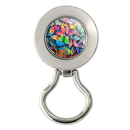 Butterfly Butterflies Rainbow Magic Magnetic Metal Eyeglass ID Badge Holder