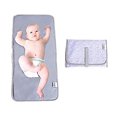 Baby Changing Pad   Fully Padded for Baby's   Foldable Large Waterproof Mat   Portable Travel Station for Toddlers Infants & Newborns (Grey) by MikiLifexiasmpl