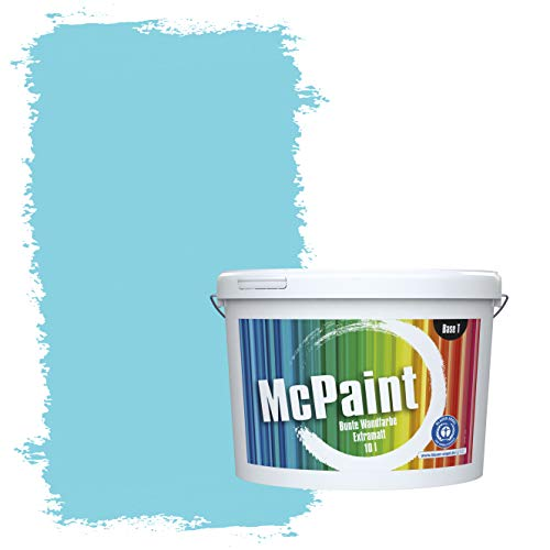 McPaint Bunte Wandfarbe extramatt für Innen Himmelblau - 5 Liter - Weitere Blaue Farbtöne Erhältlich - Weitere Größen Verfügbar