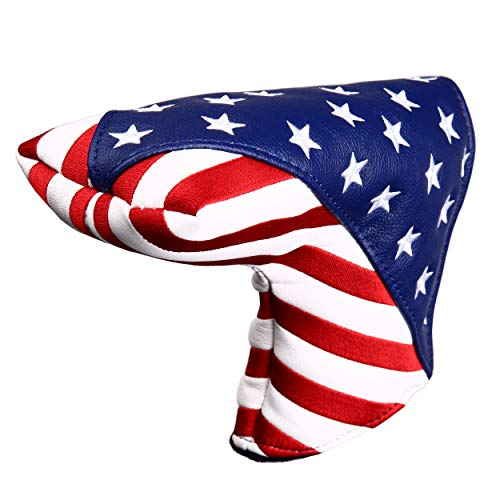 USA Stars and Stripes Golf Putter Head Cover Blade Putter Covers for Scotty Cameron Taylormade Odyssey Golf Builder