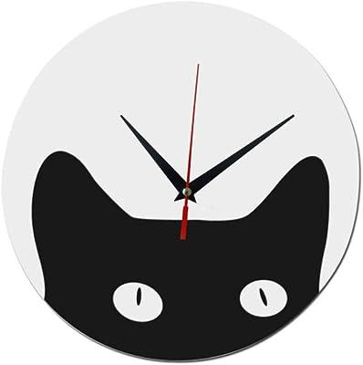 Shuangklei Quartz Wall Clocks Acrylic Mirror Watch Modern Cat Digital Clock Home Decor Living Room Stickers