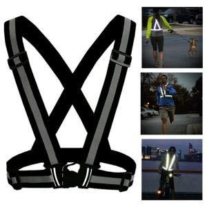 Reflexväst/reflexsele till löpning och cykling - svart