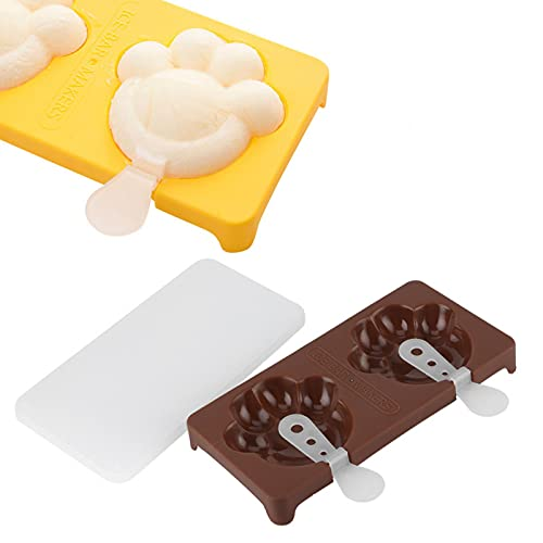 Ice Bar, Tasteless and Non‑poisonous Food‑grade ABS Material Non‑stick and BPA‑free Quick Demoulding Ice Cream for Kitchen for Home(espresso)
