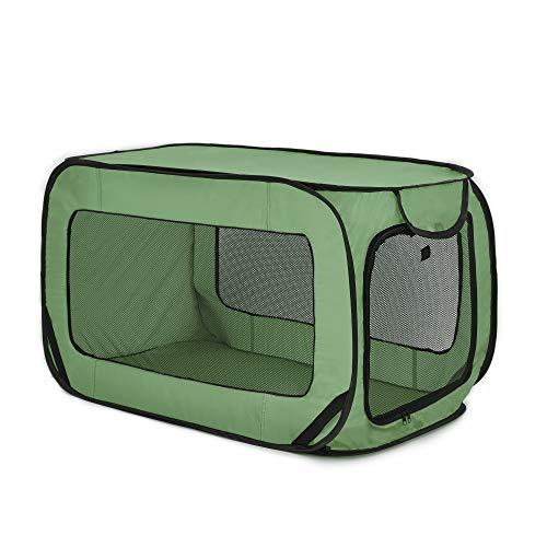 Love#039s cabin 36in Portable Large Dog Bed  Pop Up Dog Kennel Indoor Outdoor Crate for Pets Portable Car Seat Kennel Cat Bed Collection Green