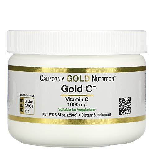 California Gold Nutrition, Vitamin C Powder, L-Ascorbic, Non-GMO, 8.81 oz (250 g), Milk-Free, Egg-Free, Fish Free, Gluten-Free, Peanut Free, Soy-Free, Vegetarian, Wheat-Free, CGN