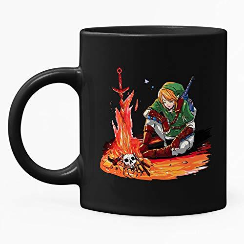 All Souls' Day Dark Souls & Legend of Zelda Taza de café, taza de té, 445 ml