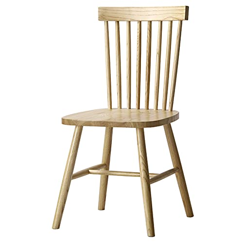 Ramingt Silla de madera Nordic Wood Solid Windsor Chairsor American Country Silla de comedor elegante simple silla de comedor moderna metal bar