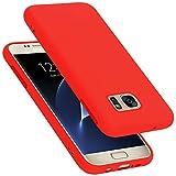 Cadorabo Funda para Samsung Galaxy S7 en Liquid Rojo - Cubierta Proteccíon de Silicona TPU Delgada e Flexible con Antichoque - Gel Case Cover Carcasa Ligera