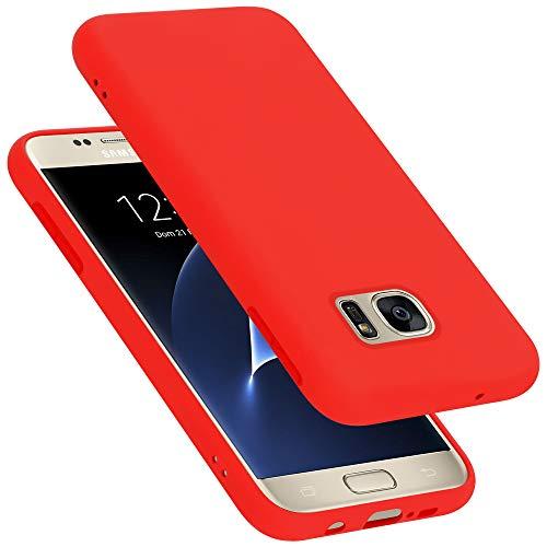 Cadorabo Custodia per Samsung Galaxy S7 in Liquid Rosso - Morbida Cover Protettiva Sottile di Silicone TPU con Bordo Protezione - Ultra Slim Case Antiurto Gel Back Bumper Guscio