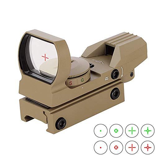 Tokenhigh Rot Grün Dot Reflex Sight Leuchtpunkt Zielvisier Holographic Scope 4 Reticles für Jagd Softair Pistole und Armbrust-HD101