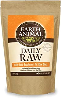 Earth Animal Daily Food Supplement for Raw Diets, 1 Pound Per Bag