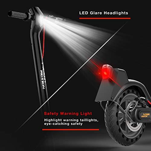 Mega Motion E-Scooter Klappbar Elektroroller Scooter Geschwindigkeit Erwachsene bis 30 Km/h 8.5 Zoll aufblasbares LCD-Display Tragbar Vorderen und Hinteren Rückleuchten(Black) - 9