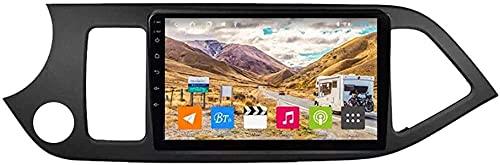 Stereo Autostrazione stereo da 9 pollici 2.5D Touch screen per Kia Picanto 2011-2015, FM/Bluetooth/SWC/Link a specchio/Camera di visualizzazione posteriore