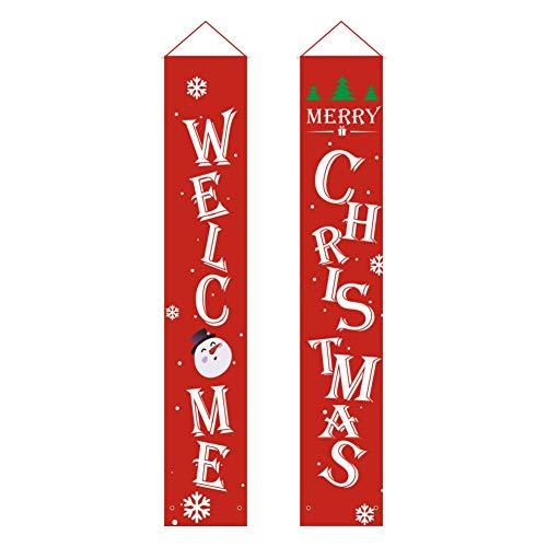 Qualilty - Striscione di Natale con scritta in lingua inglese