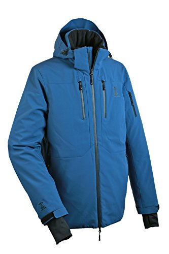TEFANESO Skijacke Herren Blau Ski Winterjacke Herren Schweizer Winterjacken Herren Parka Wintermantel Wanderjacke Skijacke Wasserdichte Winddichte Männer Jungen Kinder Skibekleidung