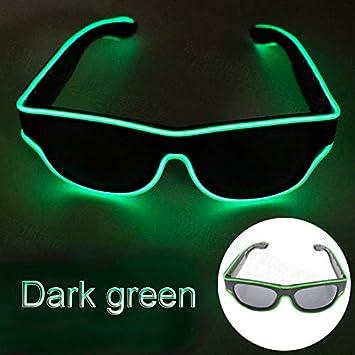 Wireless LED Luminous Glasses USB Rechargeable LED Light Up Eyeglasses Rave Party Glowing Sunglasses White