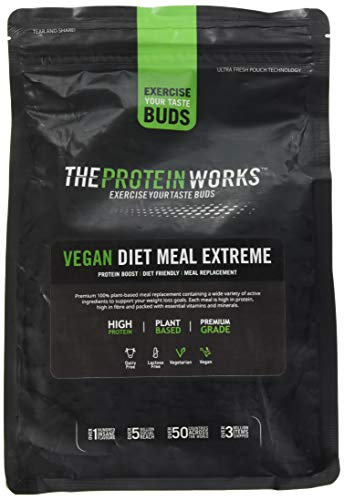 The Protein Works Vegan Diet Meal Replacement Extreme, Choc Hazelnut, 1 kg